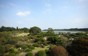 茨城県の偕楽園の風景