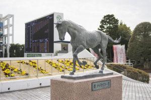 千葉県船橋市古作中山競馬場のハイセイコー像