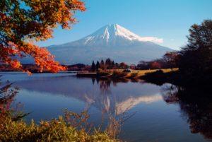静岡県の逆さ富士