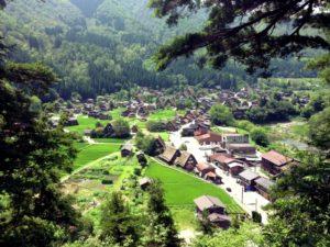 岐阜県の白川郷の風景