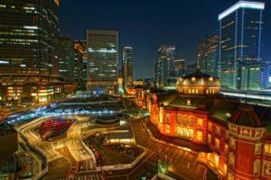 千代田区東京駅の夜景
