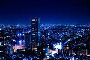 新宿区の夜景