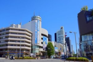 渋谷区の神宮前交差点