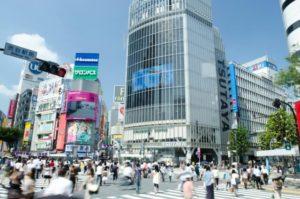渋谷区のスクランブル交差点