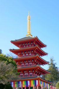 日野市の高幡不動尊五重塔