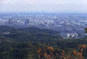 八王子市の高尾山からの風景
