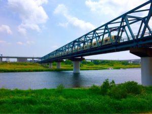 厚木市の河川敷