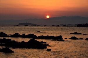 葉山町の夕日