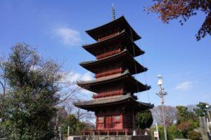 大田区の池上本門寺の五重塔