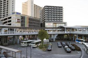 海老名駅の東口ロータリー