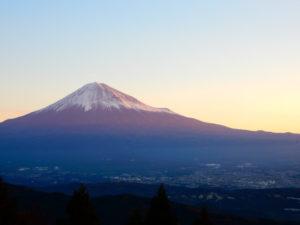 静岡市から眺める富士山