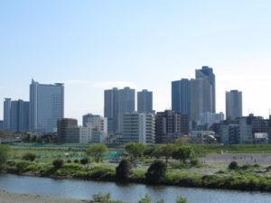 川崎市中原区武蔵小杉の街並み