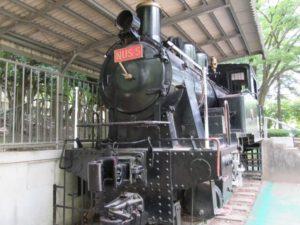 千葉市中央区千葉公園にある蒸気機関車