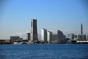 横浜市ランドマークタワーの風景