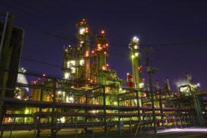川崎市川崎区浮島町の工場夜景