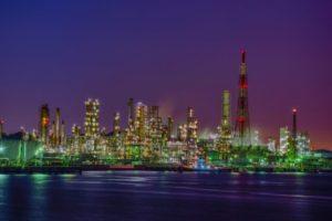 横浜市磯子区の工場夜景