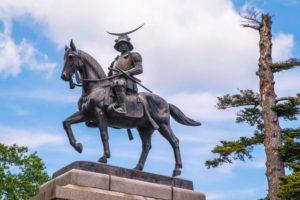仙台市の伊達政宗銅像
