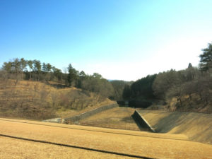 大田原市の黒羽運動公園貯水池