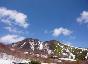 那須町の那須高原 朝日岳