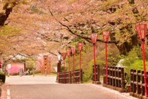 二本松市の岳温泉 桜坂