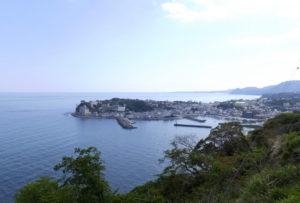 東伊豆町の海岸線