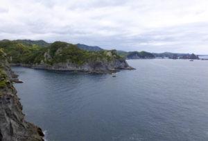 南伊豆町の海岸線