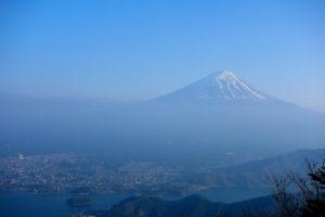 笛吹市から眺める富士山