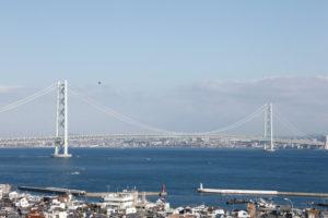 兵庫県の明石海峡大橋