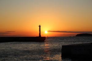南知多町 日間賀島の夕焼け