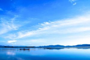 滋賀県琵琶湖の風景