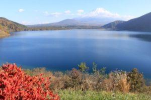 富士吉田市本栖湖から眺める富士山