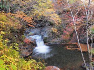 富士川町の紅葉と滝