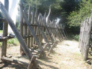 関ケ原町にある馬防柵