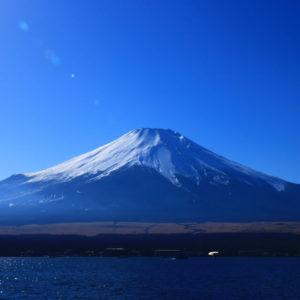 山中湖村から望む富士山