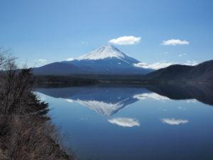 富士河口湖町から眺める逆さ富士
