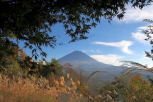 鳴沢村から望む富士山