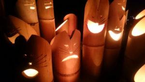 いなべ市の竹灯り祭り