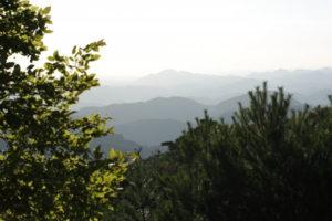 豊能町妙見山頂からの風景