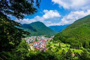 天川村の風景