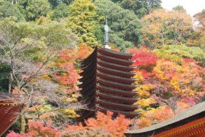 桜井市の談山神社の十三重塔