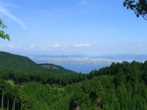 比叡山から見る草津市の風景