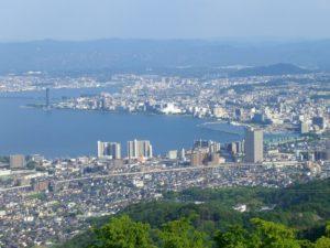 大津市比叡山からの風景