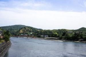 宇治市宇治川の風景
