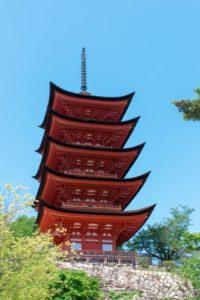 広島県宮島の五重塔