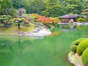 香川県の栗林公園