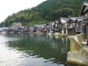 伊根町舟屋の風景