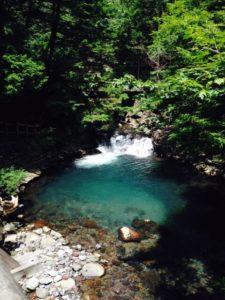 松本市の善五郎の滝