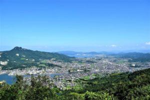 五剣山から眺める高松市街