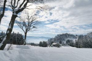 戸狩温泉の雪景色