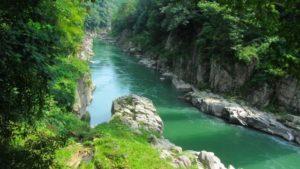 天竜川の流れ